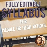 Syllabus Template for High School