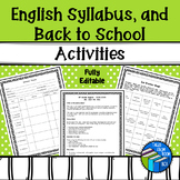 Syllabus, procedures, behavior forms and ice breakers - Fu