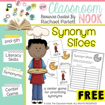 Synonym Pizza Slices - A Matching Game