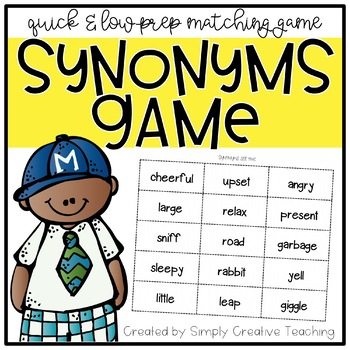 Synonym Slam - Hands On Synonym Activities