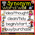Synonym Word Wall - Illustrated