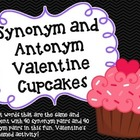 Synonym and Antonym Valentine Cupcakes