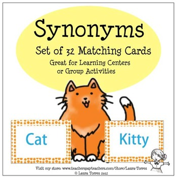 Synonyms - 32 Matching Cards
