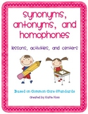 Synonyms, Antonyms, and Homophones Unit Bundle-Based on Co