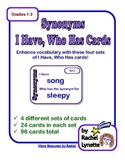 Synonyms I Have, Who Has - 4 Different Sets of Cards (Grades 1-3)