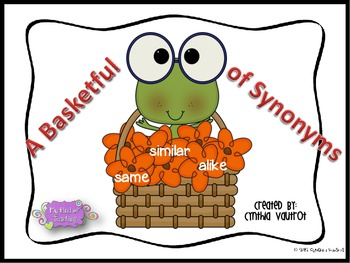 Synonyms Literacy Station - A Basketful of Synonyms