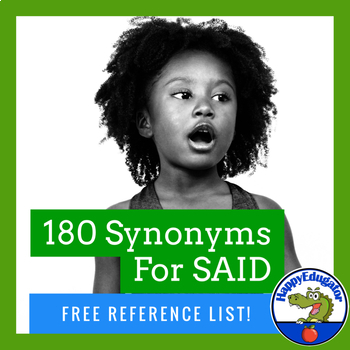 Synonyms - Other Words for Said Handout