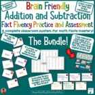 Systematic Addition and Subtraction Math Fact Cards and As
