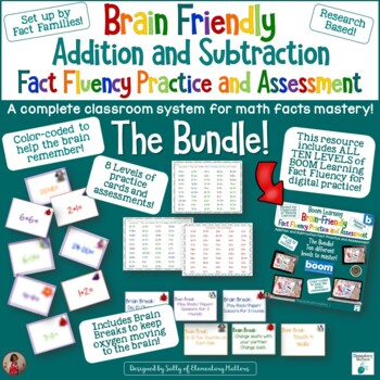 Fact Fluency: Add and Subtract-Practice and Assessments With Brain Breaks