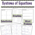 Systems of Equations - Substitution, Graphing, & Word Problems
