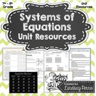 Systems of Equations Unit Resources