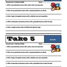 TAKE 5 - Set #2 - Grammar & Sentence Writing Skills - Comm