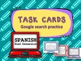 TASK CARDS Google search practice {Spanish Dual Immersion}