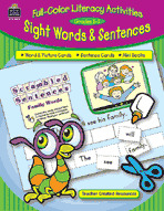 Full-Color Literacy Activities: Sight Words and Sentences