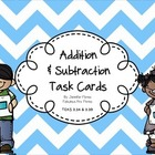 TEKS aligned Addition and Subtraction Task Cards