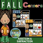 TEN Addition and Subtraction Math Centers for FALL