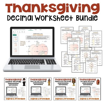 THANKSGIVING DECIMAL BUNDLE