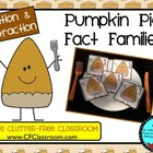 THANKSGIVING PIE FACT FAMILY TRIANGLE FLASH CARDS Common C
