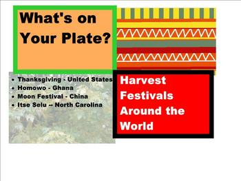 THANKSGIVING : What's on Your Plate? Harvest Celebration PPT