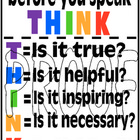 THINK Poster - prevent gossip in your classroom!