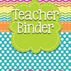 THIRD GRADE Common Core Teacher Binder (Colorful Stripes)