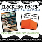 THURSDAY FOLDER PRINTABLES for CLASSROOM MANAGEMENT-BLACKL