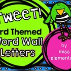 TWEET! Bird Themed Word Wall Letters