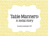Table Manners Social Story