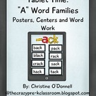 "Tablet Time: 18 ""A"" word families, word work, common core"