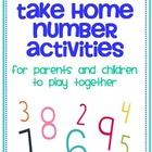 Take Home Number Activities