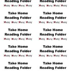 Take Home Reading Folder Labels