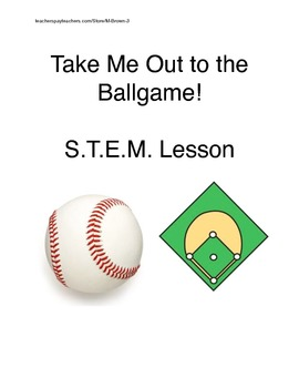 Take Me Out to the Ballgame STEM Activity.  Fantastic for