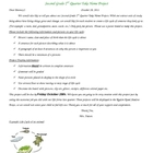 Take home lifecycles project letter
