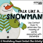 Talk Like a Snowman - A Context Clue Activity