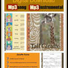 """Tall Giraffe"" Jungle Animal Song for Digital Download on"
