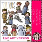 Tall Tales LINE ART bundle by melonheadz