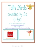 Tally Birds (counting by 5s 0-50)
