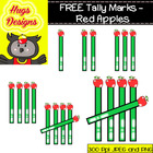 FREE Tally Marks - Apples Cliparts Set for Personal and Co