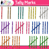 Tally Marks Dipped in Glitter Clipart - Perfect for Math,