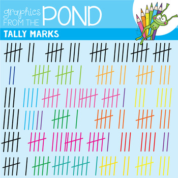 Tally Marks Graphics - Clipart for Teachers and Resources