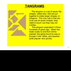 Tangrams on the SMARTboard - FREE