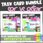 Task Card Set - Ser vs Estar Bundle