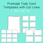 Task Card Template - Mini Set 36 - frames - borders