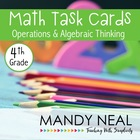 Test Prep Task Cards for 4th Grade Common Core Math *Inclu