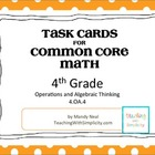 Test Prep Task Cards for 4th Grade Common Core Math (CCSS 4.OA.4)