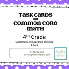 Test Prep Task Cards for 4th Grade Common Core Math (CCSS 4.OA.5)