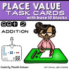 Task Cards with Base 10 Blocks: Addition for 1st Grade (op