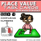 Task Cards with Base 10 Blocks: Comparing Numbers (optiona