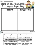 Tattling vs. Reporting Cut and Paste (with bonus!)