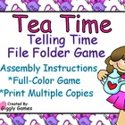 Tea Time Telling Time File Folder Game